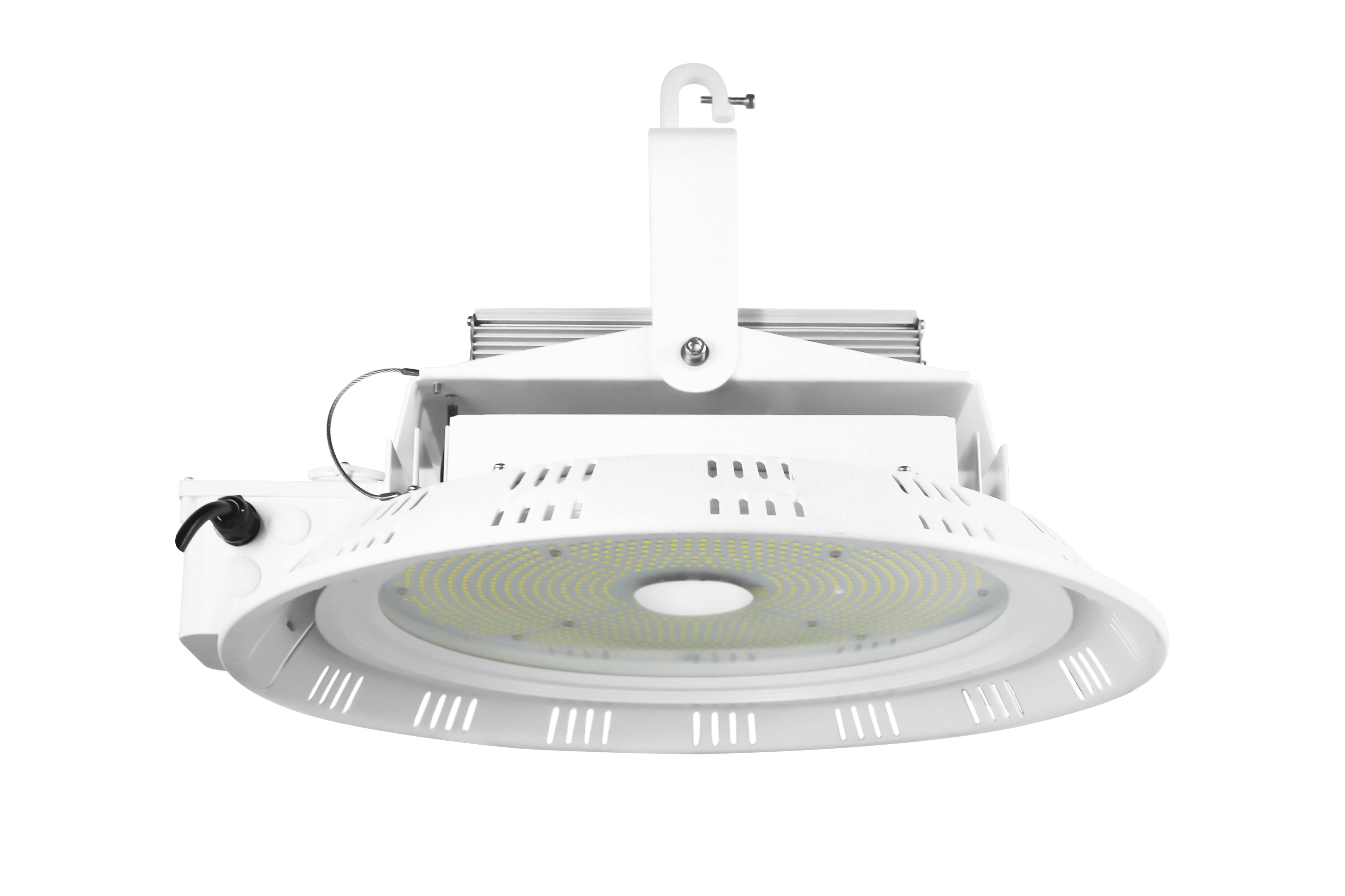 270w Round High Bay, 0-10V Dimmable, Compatible w/Motion Sensor