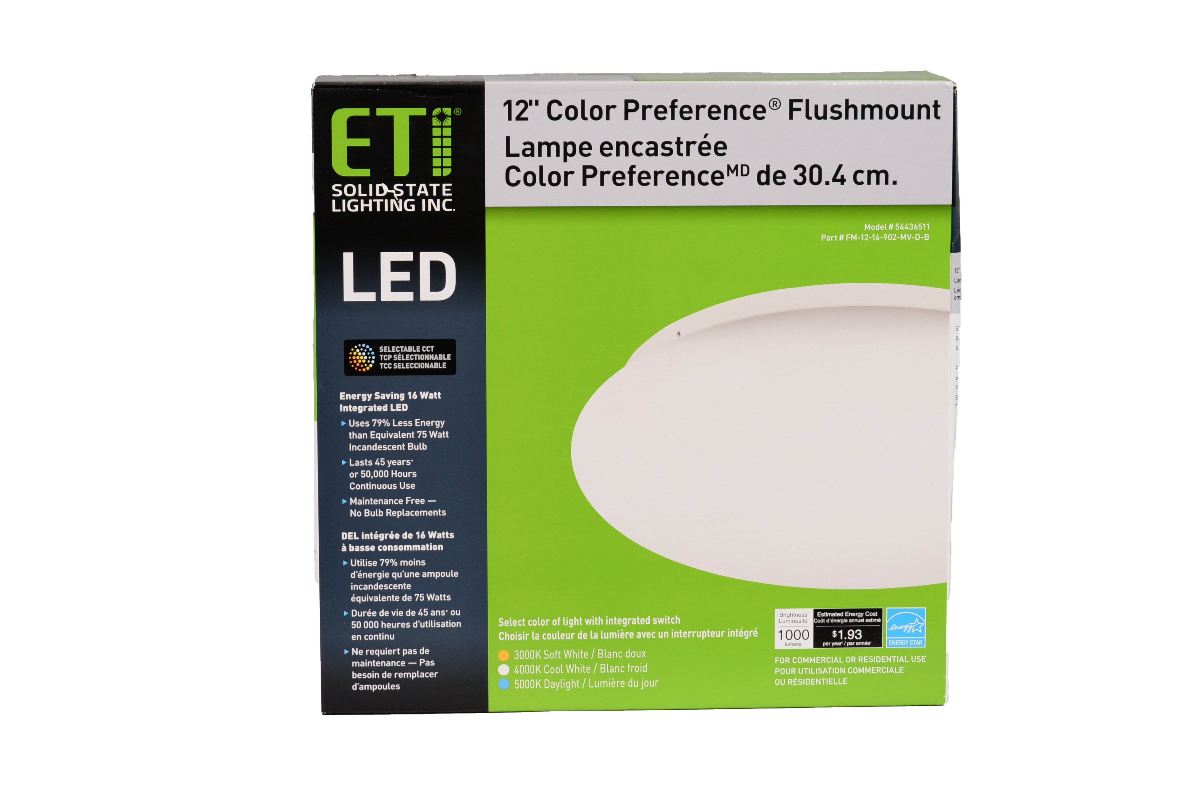 """12"""" Color Preference® Low Profile Dimmable Flushmount"""