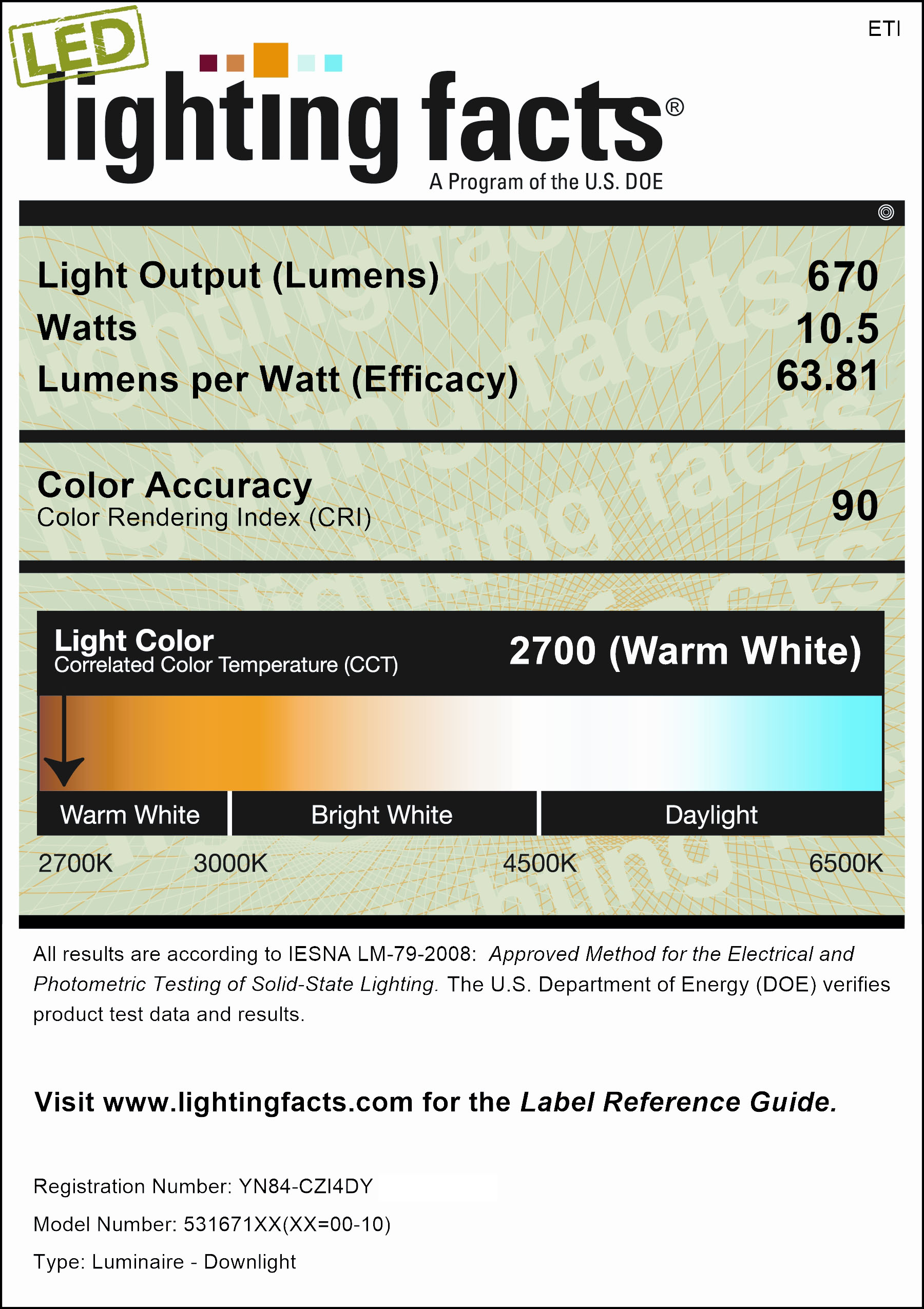 """5""""/6"""" Color Preference® LED Recessed Retrofit Downlight - 800lm"""
